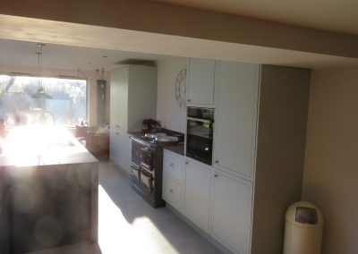 Kitchen extension with dining room.